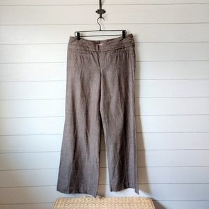 Anthropologie ELEVENSES Wide Leg Cotton Trousers